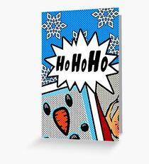 Pop Art Ho Ho Ho Greeting Card