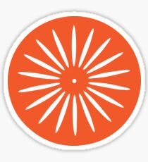Orange Wisconsin Sunburst Sticker