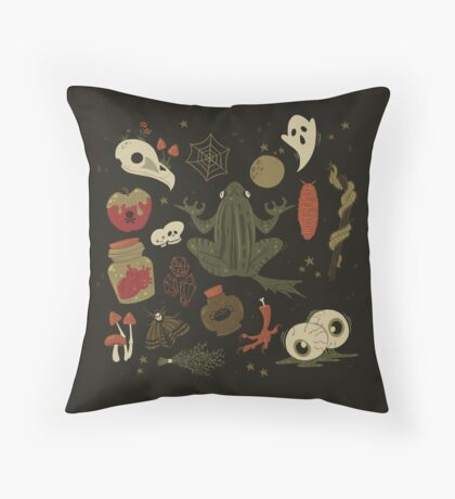 The Witch's Essentials Throw Pillow
