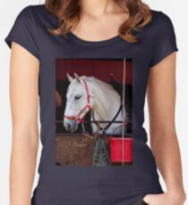 Horse head Women's Fitted Scoop T-Shirt