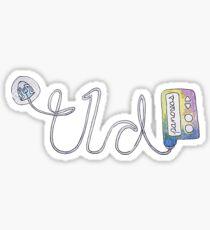 T1D Watercolor Pump Sticker