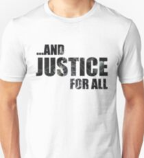 Justice Dark Text Unisex T-Shirt