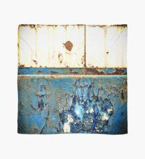 Industrial Rust on Blue Metal Scarf