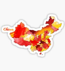 Watercolor Countries - China Sticker