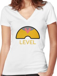 Pokémon - Level Ball Women's Fitted V-Neck T-Shirt