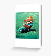 Ride the wild fish Greeting Card