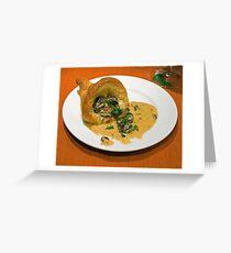 Escargot in a Puff pastry Cornucopia Greeting Card