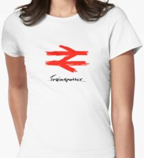 Trainspotter Womens Fitted T-Shirt