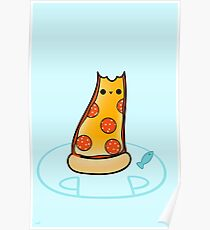 Purrpurroni and Cheese - Pizza Cat Poster