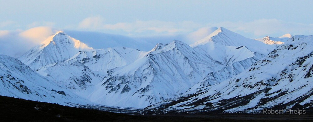 Sunrise on the Alaska Range by Robert Phelps
