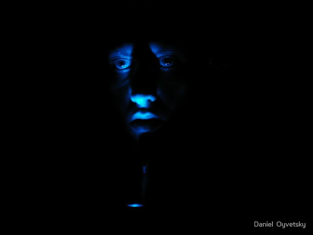 Blue Self Portrait by Daniel  Oyvetsky