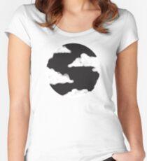 Moon Cloud, Black Night Sky Women's Fitted Scoop T-Shirt