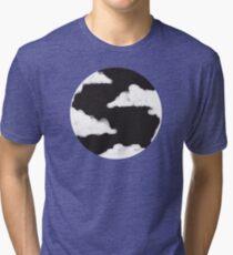 Moon Cloud, Black Night Sky Tri-blend T-Shirt