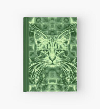 Cat in green #Art Hardcover Journal
