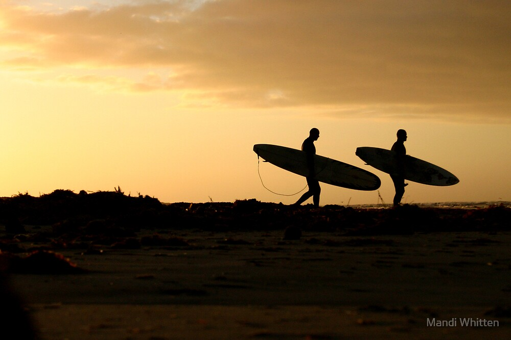 Sunrise Surfers by Mandi Whitten