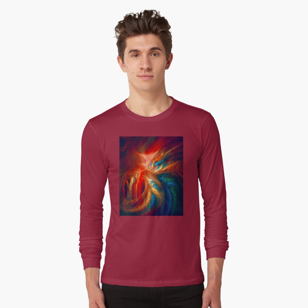 Colorful Wings Long Sleeve T-Shirt