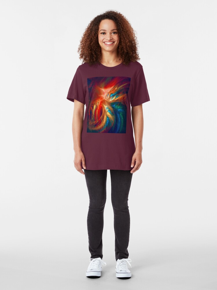 Alternate view of Colorful Wings Slim Fit T-Shirt