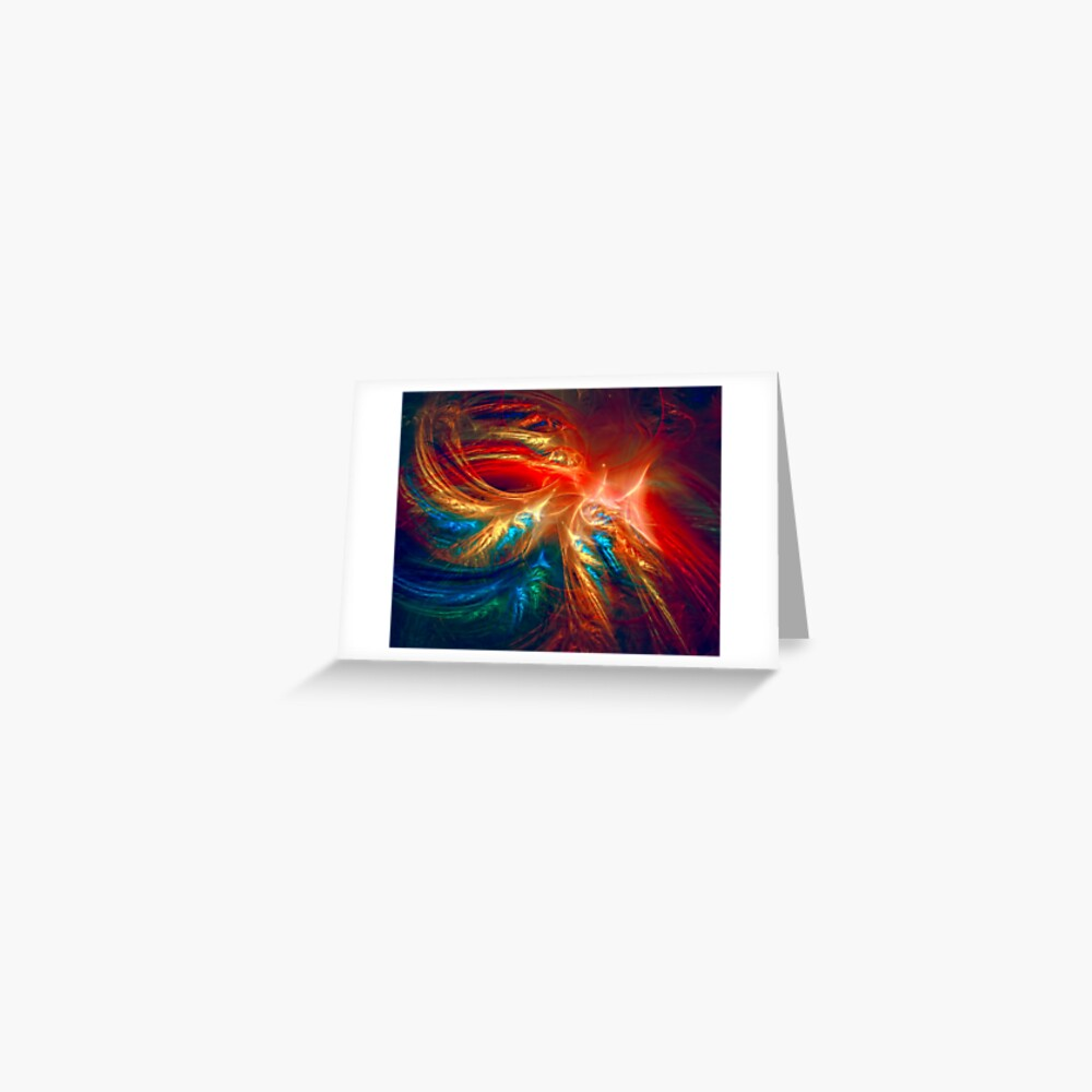 Colorful Wings Greeting Card