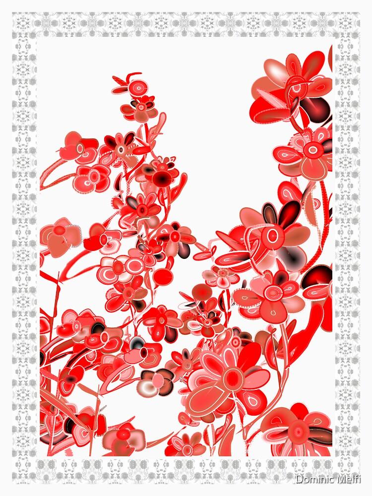 TSHIRT RED FLOWERS by dmelfi