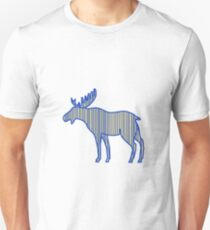 Moose Silhouette Drawing Unisex T-Shirt