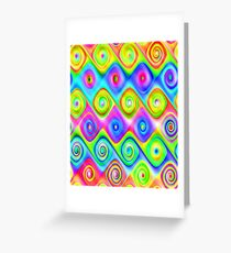 Colorful Algorithmic Pattern P09 - Amazing Spirals Greeting Card