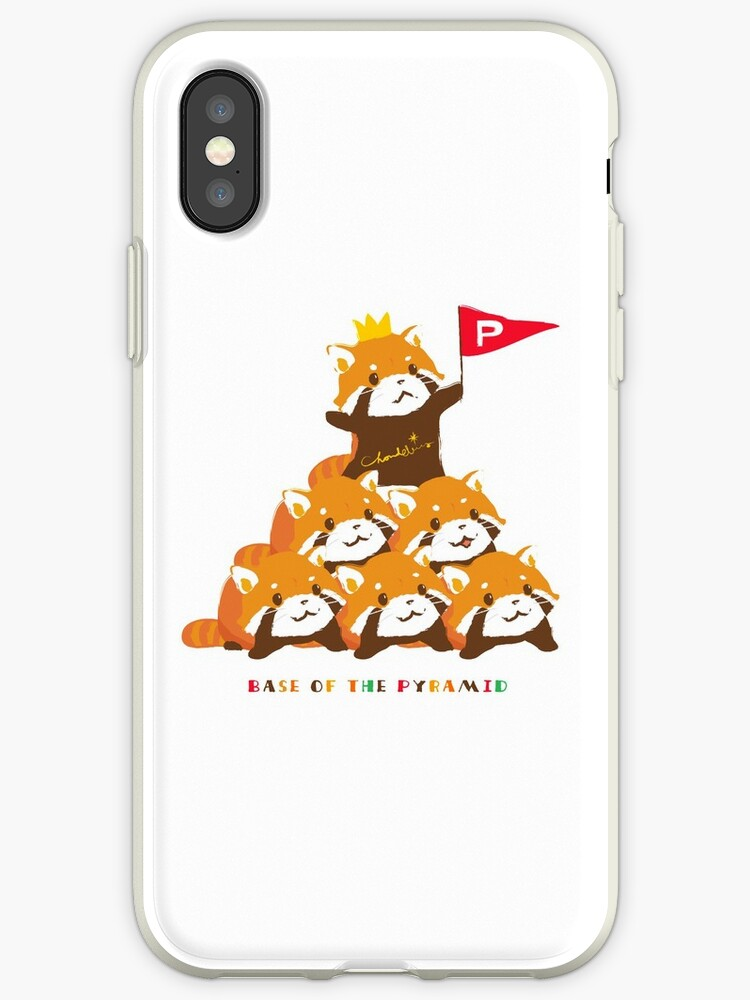 'RED PANDA PYRAMID FORMATION 01' iPhone Case by Chandelina