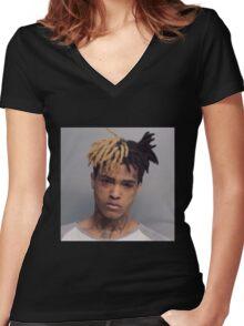 xxxtentaction Merchandise Women's Fitted V-Neck T-Shirt