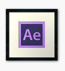 Adobe After Effects Pillows / Acrylic Block Logo Framed Print