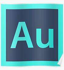 Adobe Audition Pillows / Acrylic Block Logo Poster