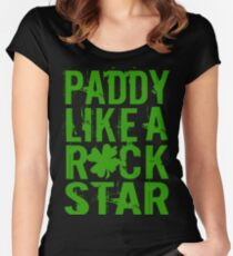 Paddy Like a Rock Star Women's Fitted Scoop T-Shirt
