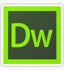 Adobe Dreamweaver Pillows / Acrylic Block Logo Sticker