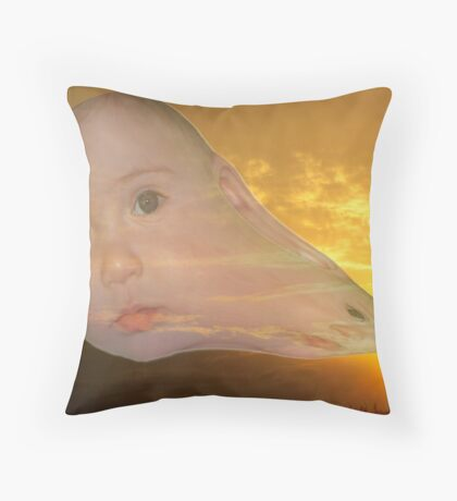 The Evolution of Sun Children Throw Pillow