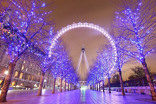 London Christmas Eye by Adam Gormley