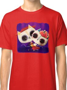 Mexican Cute Cats Couple Classic T-Shirt
