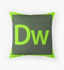 Adobe Dreamweaver Pillows / Acrylic Block Logo Throw Pillow
