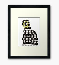 The Sherlock Wallpaper Face Framed Print