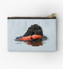Bolso de mano Perro de agua portugués recuperando un parachoques naranja