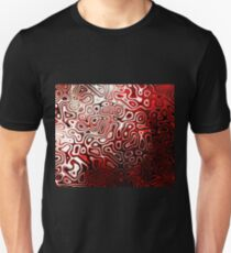 Protoplasm abstract digital design Red Black White Unisex T-Shirt