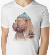 Tattooed Walrus Men's V-Neck T-Shirt