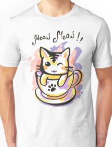 Bright kitten in a cup Unisex T-Shirt