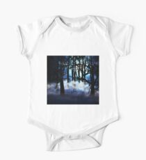 Dark foggy forest Kids Clothes