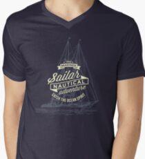 True mariner – nautical adventure Men's V-Neck T-Shirt