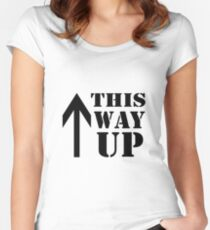 This Way Up Women's Fitted Scoop T-Shirt