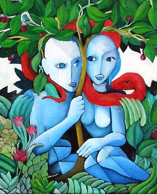 "ART by bec ""Adam & Eve"" by ARTbybec"