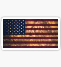 USA national flag background in vintage style dirty Sticker