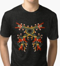 Aztec double double dragon Tri-blend T-Shirt