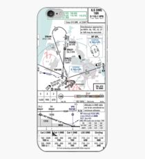 Amsterdam ILS 18R approach plate iPhone Case