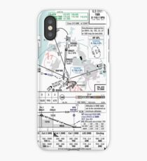 Amsterdam ILS 18R approach plate iPhone Case/Skin