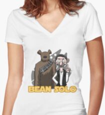 Bean Solo Women's Fitted V-Neck T-Shirt