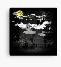 There is a doctor between clouds Canvas Print